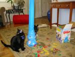 Comet and Vixen play with Elefun