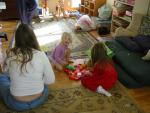 Playing Hungry Hippo with Aunt Kristi