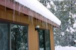 Icicles on the poolhouse